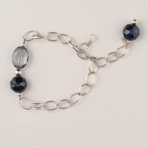 Sterling Silver and Chinese Crystal Bracelet