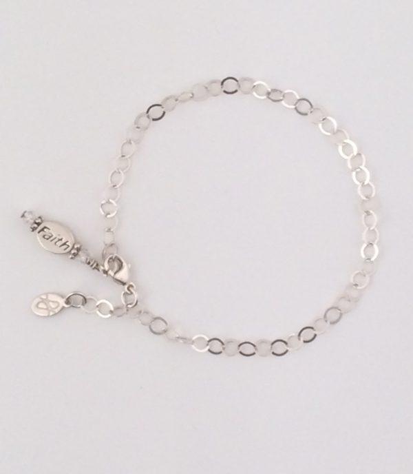 """Sterling Silver """" Faith """" Bracelet"""