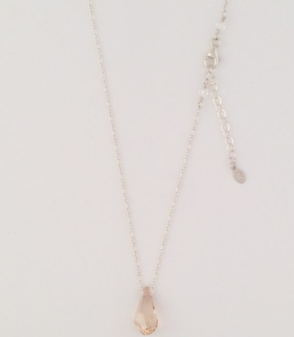 Fine Sterling Silver Chain with Swarovski Crystal Pendant