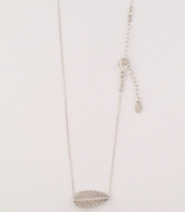 Fine Sterling Silver Chain with Leaf Accent Necklace