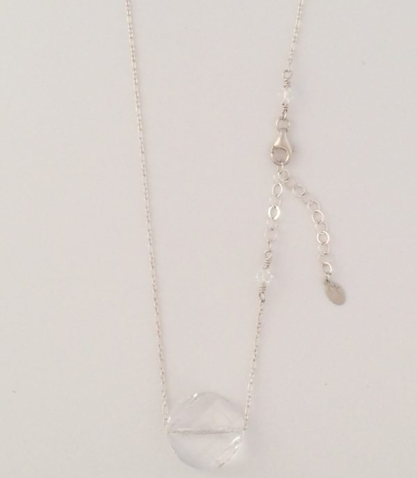 Swarovski Coin Crystal and Fine Chain Necklace