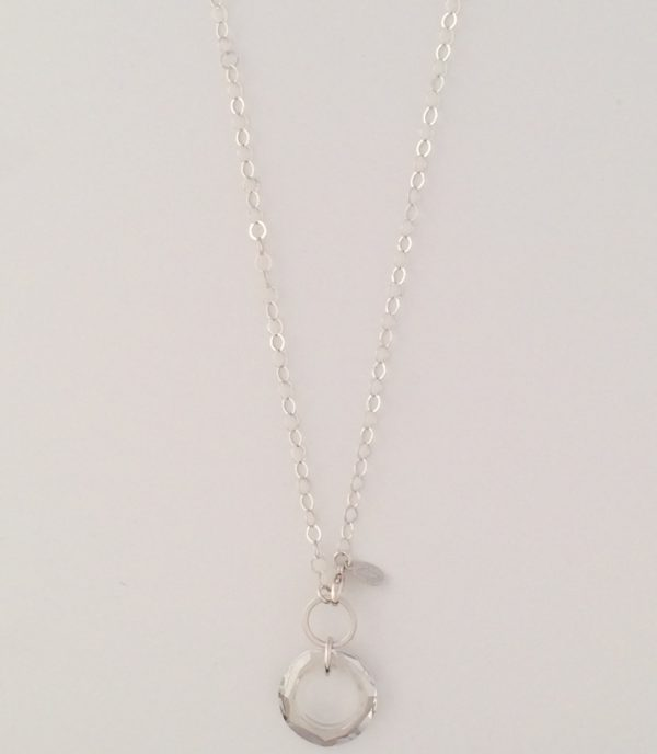 Swarovski Crystal and Sterling Silver Necklace