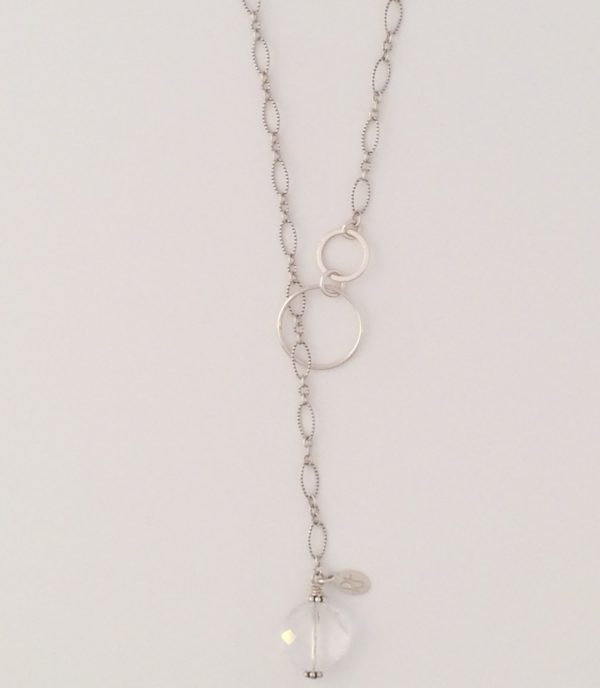 Sterling Silver and Swarovski Lariat Necklace
