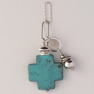 Sterling Silver and Turquoise Blue Magnesite