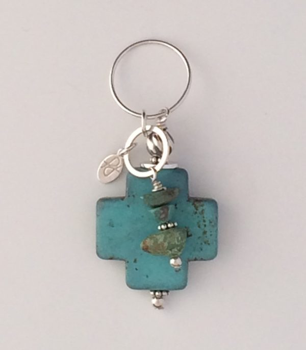Sterling Silver and Turquoise Blue Magnesite Pendant