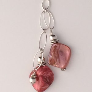 Sterling Silver and Double Coral Shell Pendant