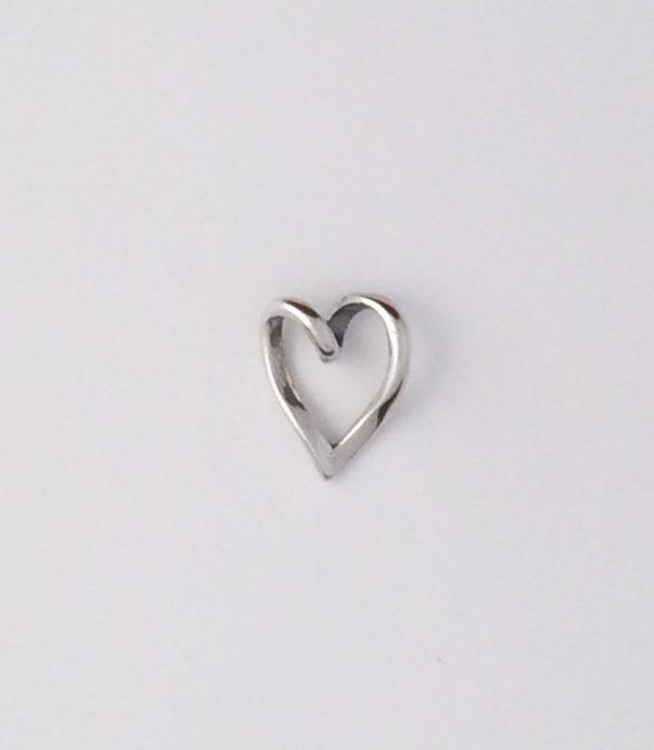 Sterling Silver Heart Slider Pendant