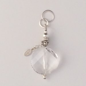 Sterling Silver and Swarovski Coin Crystal Pendant