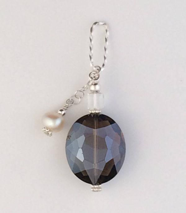 Sterling Silver , Chinese Crystal and Pearl Pendant