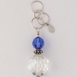 Sterling Silver and Chinese Crystal Pendant