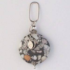 Sterling Silver and Multi Magnesite Pendant
