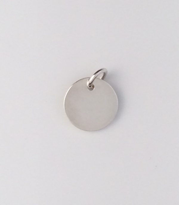 Sterling Silver Small Disk Pendant