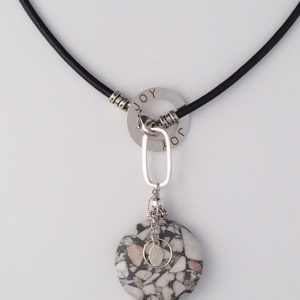 Leather Necklace with Sterling Silver Clasp