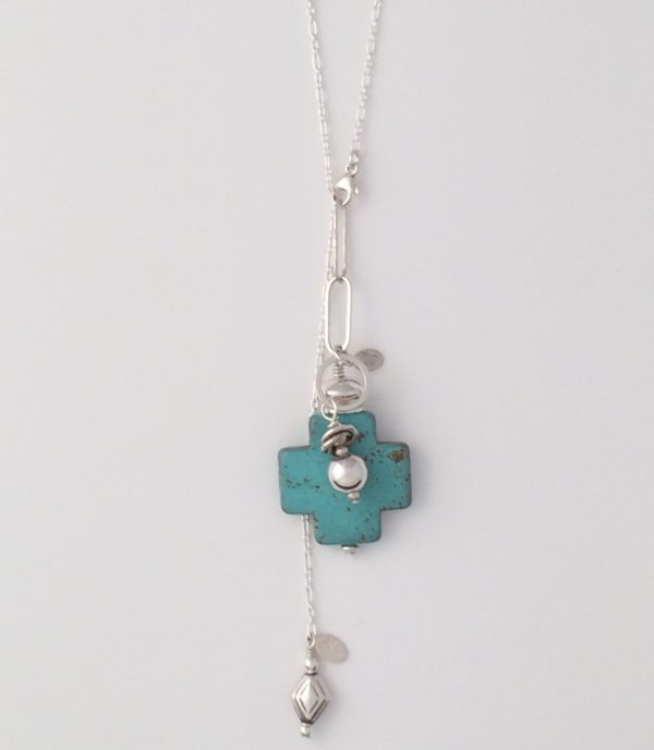 Sterling Silver Chain with Bali Bead Dangle