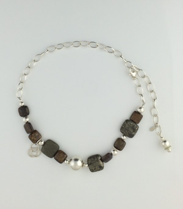 Sterling Silver and Pyrite Necklace