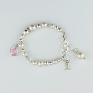 Sterling Silver , Swarovski Pearl and Crystal Bracelet