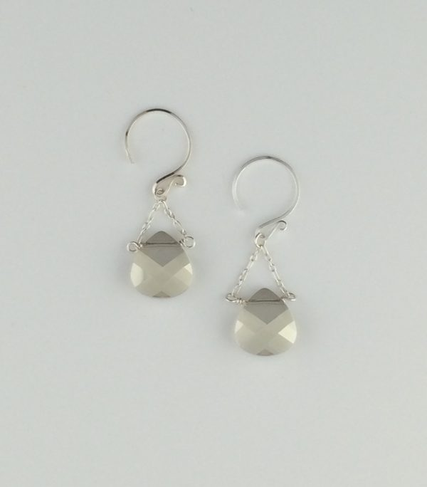 Swarovski Crystal and Sterling Silver Drop Earrings