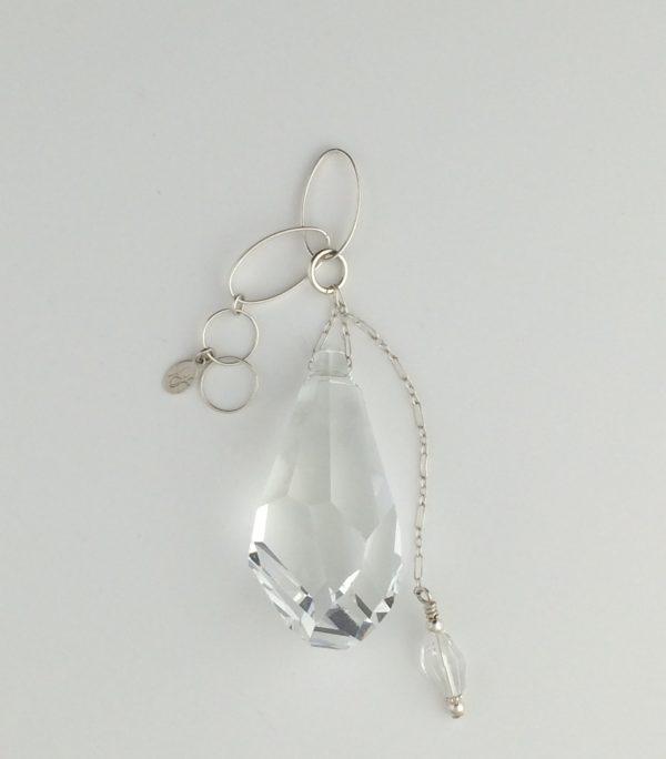 Sterling Silver and Swarovski Polygon Crystal Pendant