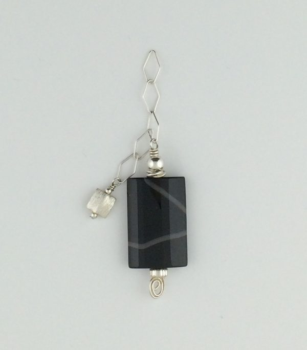 Sterling Silver and Black Agate Pendant