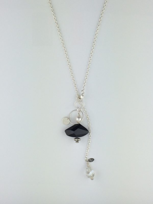 Sterling Silver Chain with Swarovski Crystal Dangle