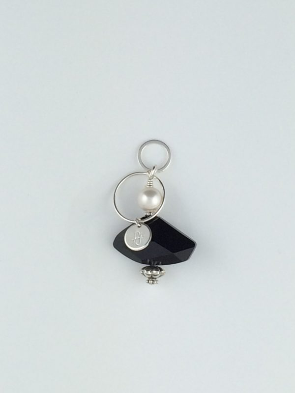 Swarovski Crystal and Pearl Pendant with Silver Accents