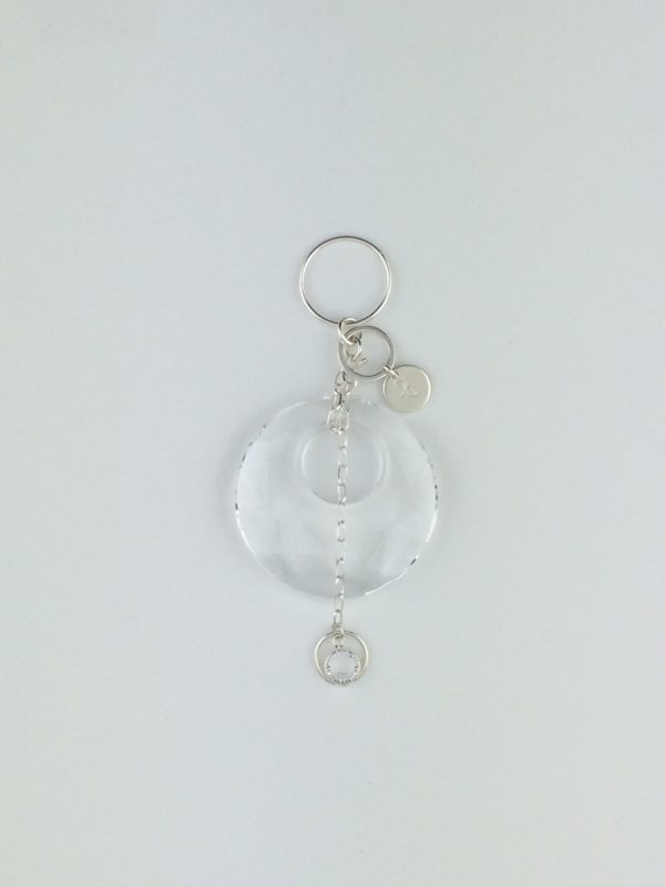 """Large Swarovski """"Clear"""" Victory Crystal and Sterling Silver Detail Pendant"""