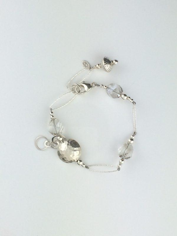 Silver Sparkle Chain and Swarovski Crystal Bracelet