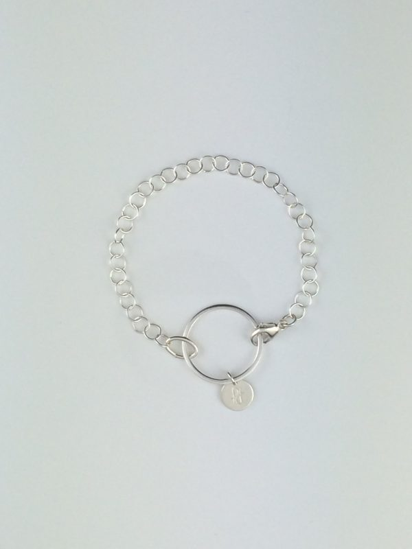Sterling Silver Circle ~ Circle Chain Bracelet