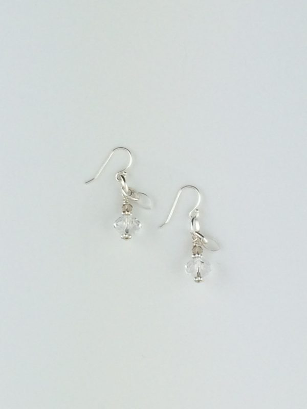 Mini Swarovski Briolette Earrings with Sterling Silver Accents