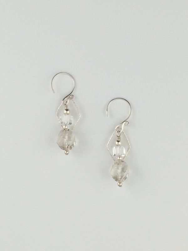 """""""Silver Shade"""" Swarovski Crystals Earrings with Silver Accents"""