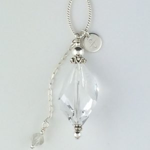 Sterling Silver and Large Swarovski Crystal Pendant