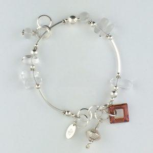 """Copper"" Swarovski Crystal and Sterling Silver Embellishment"