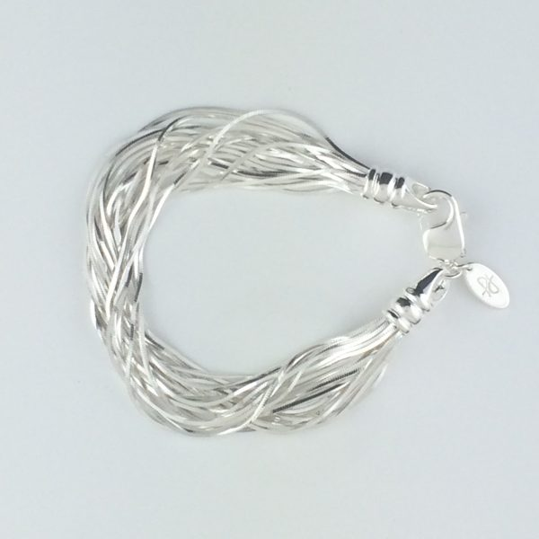 Liquid Sterling Silver Multi Strand Bracelet